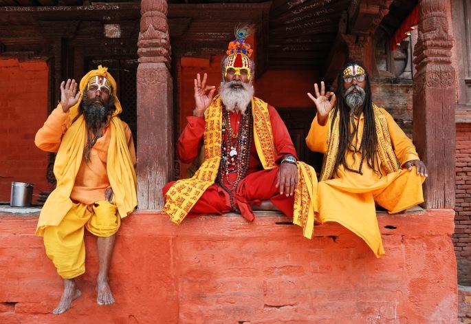 Three_saddhus_at_Kathmandu_Durbar_Square