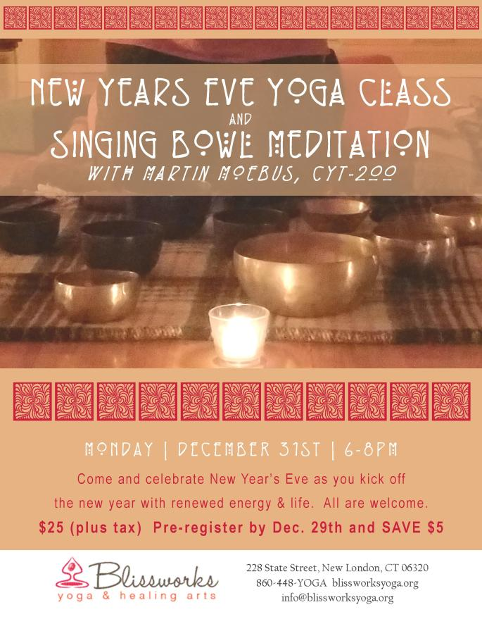 New Years Eve class with Singing bowls